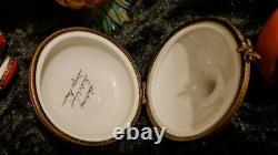 12 Limoges Peint Main Porcelain Fruits & Vegetables Miniature Trinket Boxes