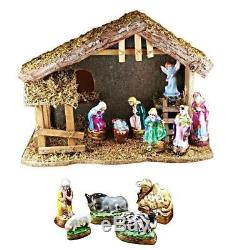 12 PIECE NATIVITY SET France Limoges Boxes Rochard NEW France French