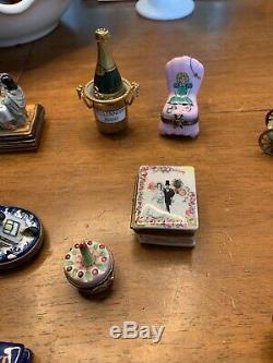 14 limoges trinket box peint main