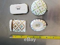 4 Beautiful original Limoges Boxes Moving out sale
