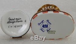 4pc Lot Limoges France Pient Main ELEPHANT Trinket Box Rare Faberge maharaja