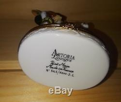 ARTORIA LIMOGES Lynn Haney Collection 362/1000 Father Christmas Dog Trinket Box