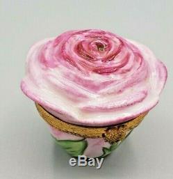 ARTORIA Pink Rose Limoges Box