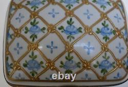 Antique Limoges Hand Painted Porcelain Hinged Trinket Box