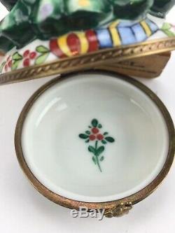 Antique Limoges Porcelain Trinket Box Christmas Tree