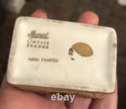 Antique Napoleonic Bee Gilt Limoges Porcelain Collectible Boxes X2 Bonus Bee