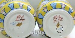Art Deco Limoges Vase Pot Set of 2 Private Stock TIFFANY & Co Le TALLEC 315rB