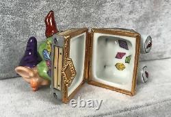 Artoria Dopey Mine Cart Trinket Box Limoges France Disney LE 92 SIGNED DF 548