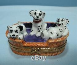 Artoria Limoges Peint Main Disney 101 Dalmatians Trinket Pill Box L. E. 158/1500