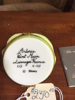 Artoria Limoges Peint Main Disney Winnie The Poohs Eeoyre Trinket Box, Rare