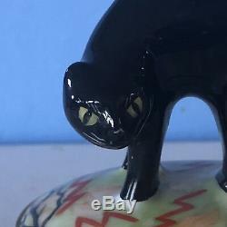 Artoria Limoges Scaredy Cat Pumpkin Trinket Box