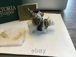 Artoria Lynn Haney Limoges France Polar Bear Santa Ltd Ed 132/1000 Trinket Box