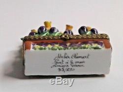 Atelier Chamart Limited Edition Limoges Trinket Pill Box Jonquils Crocus Flowers