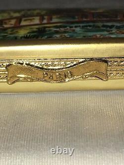 Atelier de Limoges France Peint Main Monet Bridge at Giverny Trinket Box