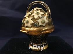 Authentic Faberge Imperial small porcelain Egg hand painted trinket box