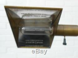 Authentic Iconic Original Cedric Hartman Brass Floor Lamp Excellent Vintage