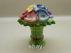 Authentic Limoges Box France Chamart Exclusive Multi-Colored Flower Bouquet