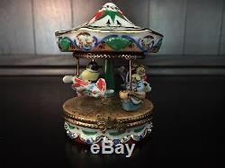 Authentic Limoges Trinket Box Carousel or Merry Go Round