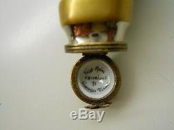 Authentic Limoges Trinket Box France Eximious 40 Watt Light Bulb Excellent