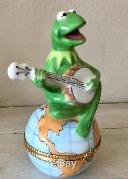 BERNARDAUD Limoges Trinket Box Kermit ON TOP OF THE WORLD First Edition Numbered
