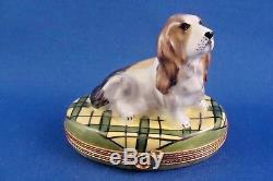 Basset Hound Dog Breed Canine FRENCH LIMOGES box
