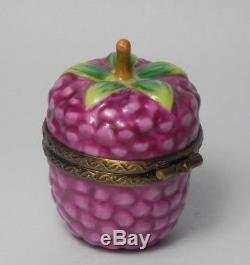 Beautiful Limoges France Raspberry Trinket Box