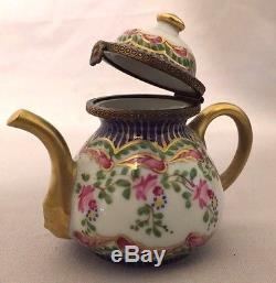 Beautiful Limoges France Teapot Trinket Box
