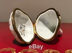 Beautiful Tiffany & Co. Limoges France Garlic Clove Trinket Box