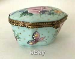 Beautiful Vintage Limoges Rochard Mother & Child Trinket Box