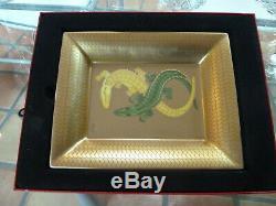 CARTIER Limoge'Crocodile' Porcelain Ashtray Trinket Dish Platter Tray