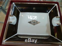 CARTIER Limoges'Diamond' Cartier Porcelain Ashtray Trinket Dish Platter Tray
