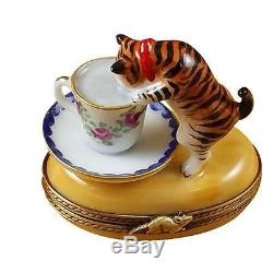 CAT WithMILK France Limoges Boxes Snuff Trinket Box NEW French