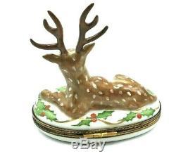 Chamart Christmas Reindeer Limoges Box (Retired)