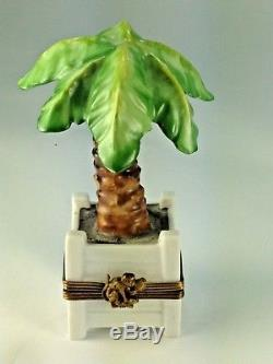 Chamart Exclusive Vintage Limoges Trinket Box The Palm Tree France