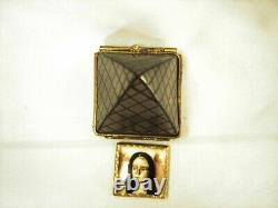 Chamart Louvre Pyramid Mona Lisa Limoges Box Peint Al A Main France Hand Painted