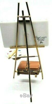 Chambord Castle Easel with case GR Limoges Box RETIRED