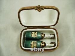 Champagne Bottles/case Claire Longuet Limoges Box Peint Main France Hand Painted