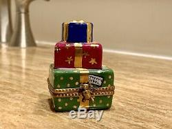 Christmas Boxes With Teddy Bear Limoges Box
