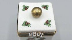 Christmas NOEL Cube Limoges Box by Gerard Ribierre