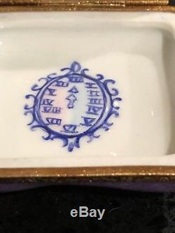 Cinderella's Slipper With Mouse Disney Limoges Box (artoria) Rare Retired