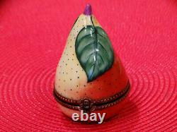 Collection of Seven (7) Exquisite French Limoges Trinket Boxes, Fruit, Bird, etc
