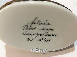 Dalmatian Dog LIMOGES ARTORIA FRANCE Trinket Porcelain Box excellent