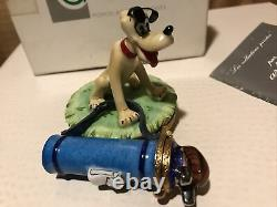 Disney Artoria Golf Au Pluto Porcelaine De Limoges Trinket Box With Box + COA