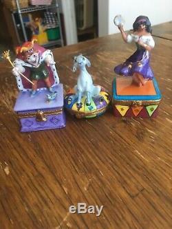 Disney Limoges Artoria Hunchback Notre Dame Esmeralda Djali Trinket Box Set Rare