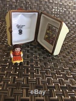 Dollhouse Trinket Box Peint Main Limoges France with doll