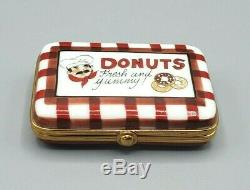 Donut Box with removable Donuts Limoges box by Pierre Arquie RETIRED (Numbered)