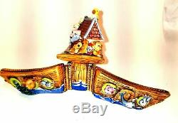 Double Hinged Noah'S Ark Original Limoges Box Numbered 1 of 500 First One Painte