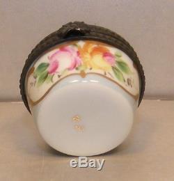 E Round Morphine, Nr. 50, Porcelain Limoges Box NEW