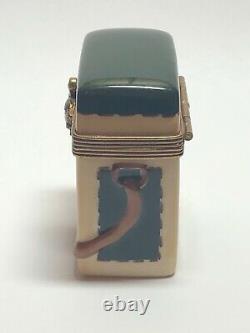 Eximious Limoges France Peint Main Mallard Duck Hunting Bag Trinket Box