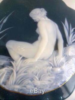 Exquisite Limoges Artist Gotz Pate Sur Pate Nymph dresser trinket box